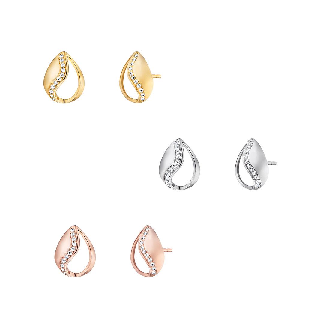 Engelsrufer - Ohrringe Tropfen in Silber, Gold, Rose