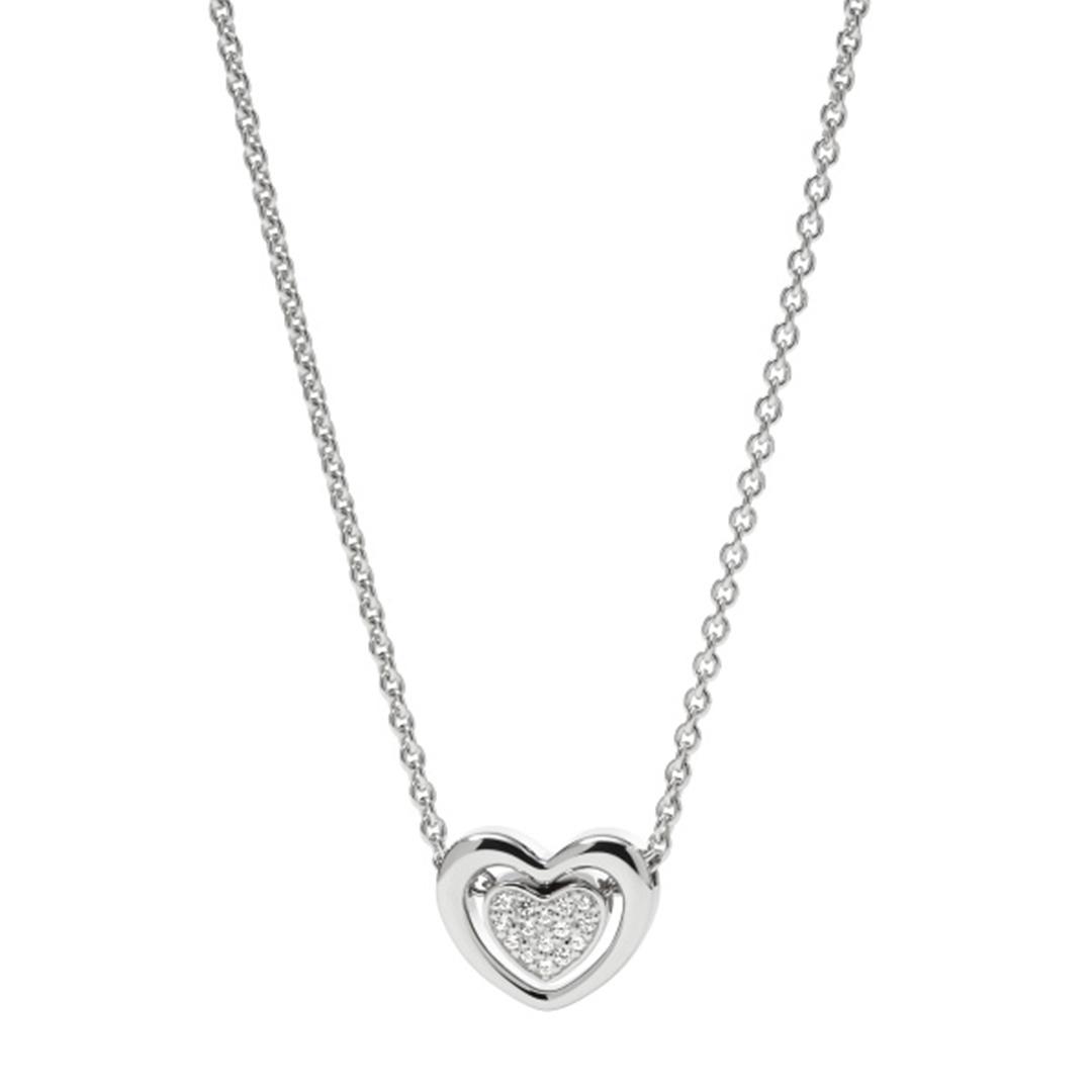 Fossil - Damen Halskette Herz silber JFS00300040