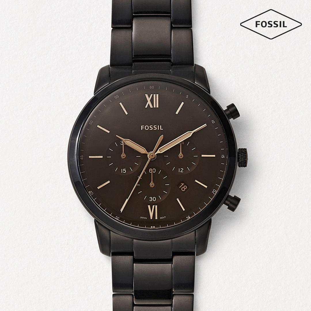 Fossil -Herren Uhr schwarz