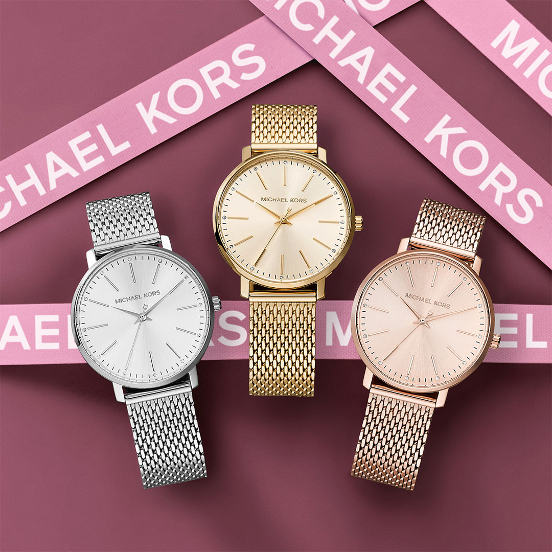 Michael Kors - Damen Uhren in Silber, Gold, Rose mk4338 mk4339 mk4340