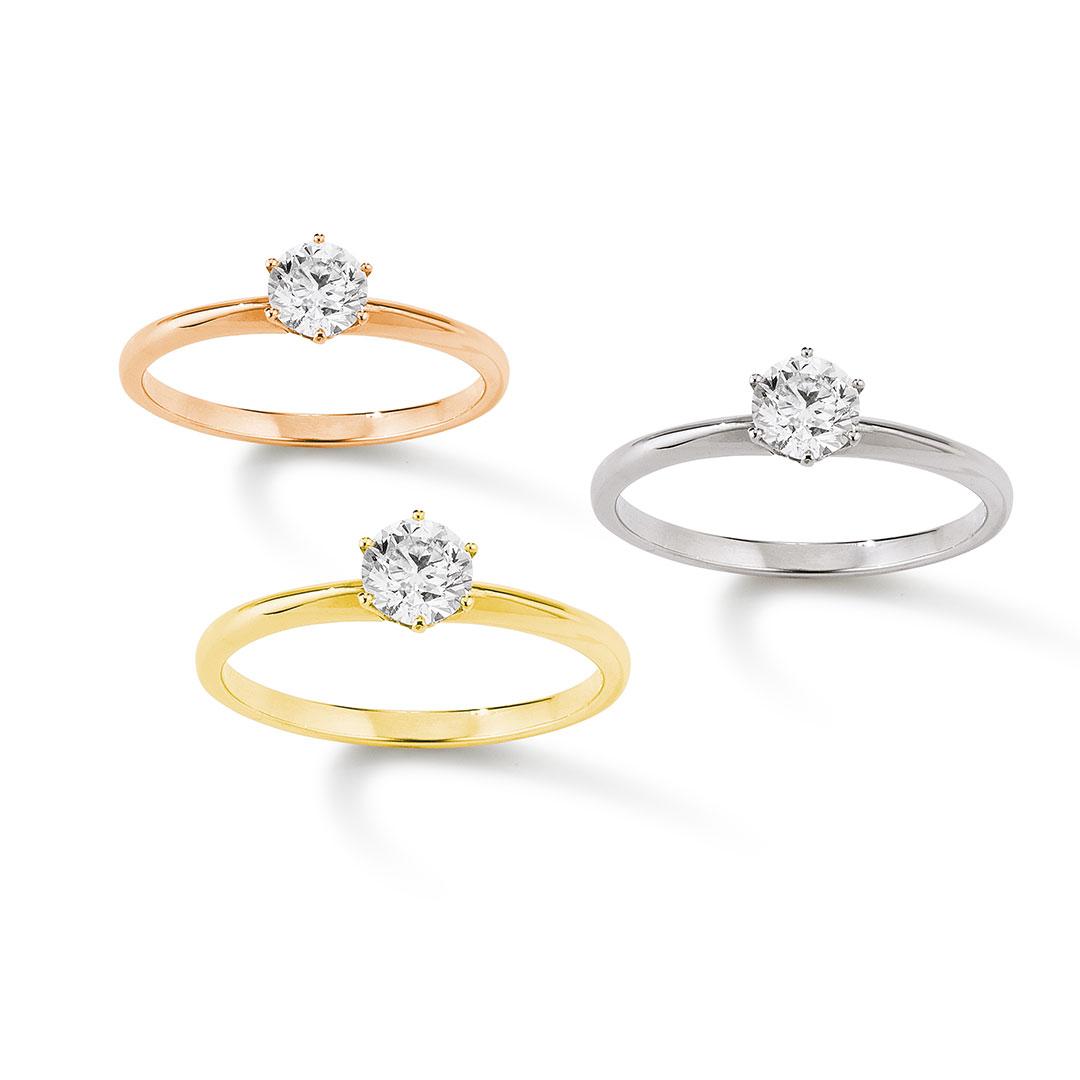 Palido - Ringe mit Stein in Rose, Gold, Silber