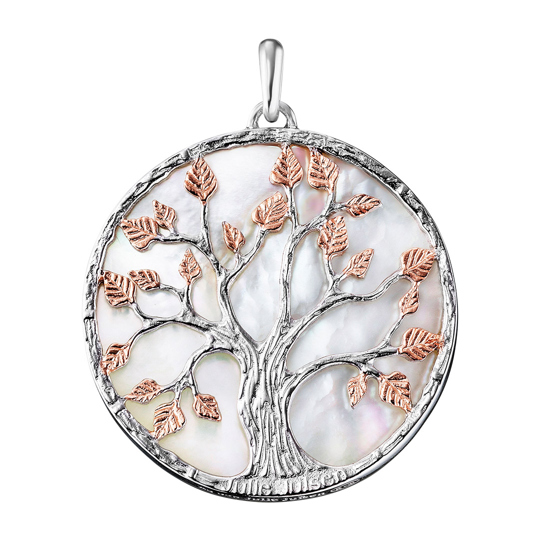 Julie Julsen Anhänger Lebensbaum Perlmutt silber rose