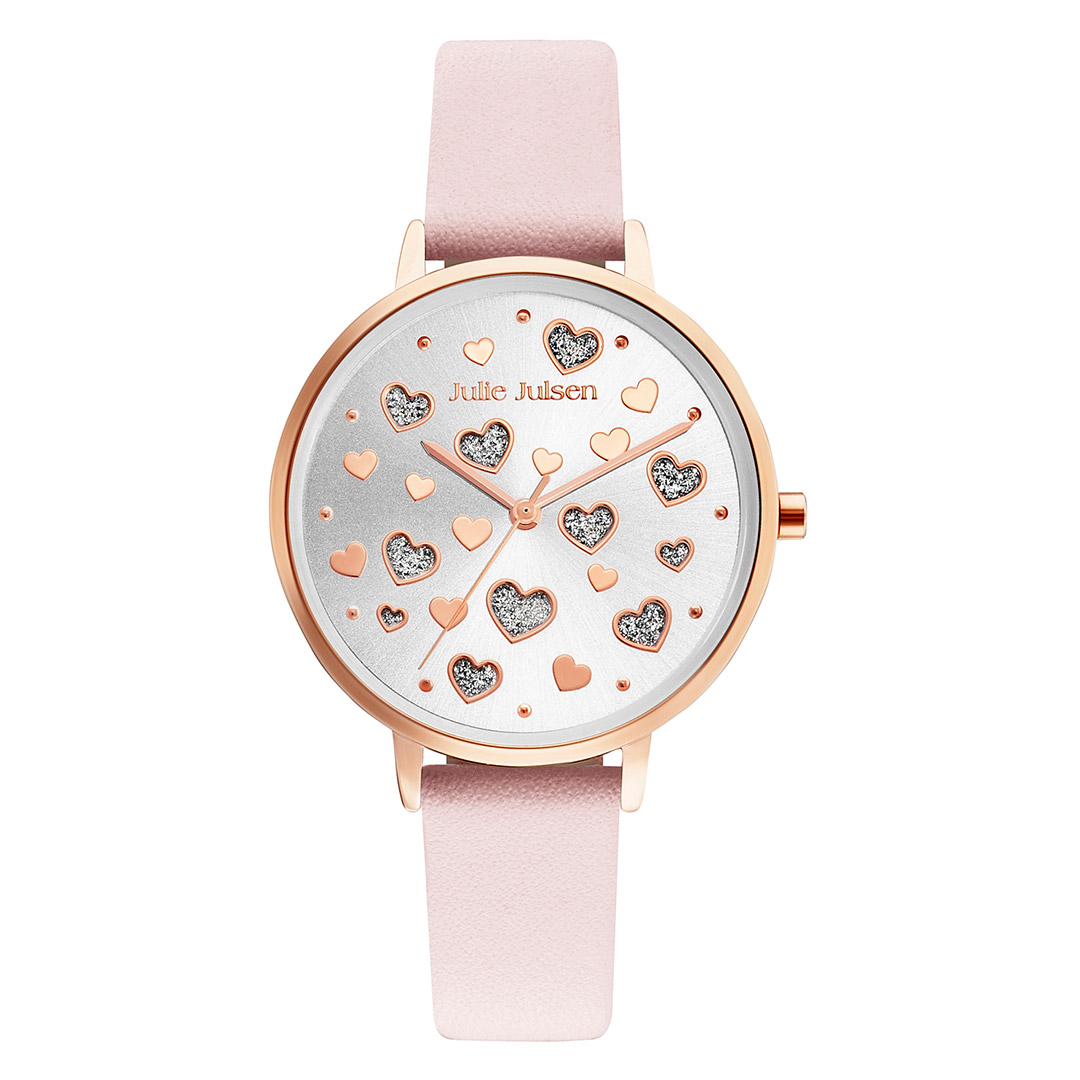 Julie Julsen Damen-Uhr Amore Lederband rosa