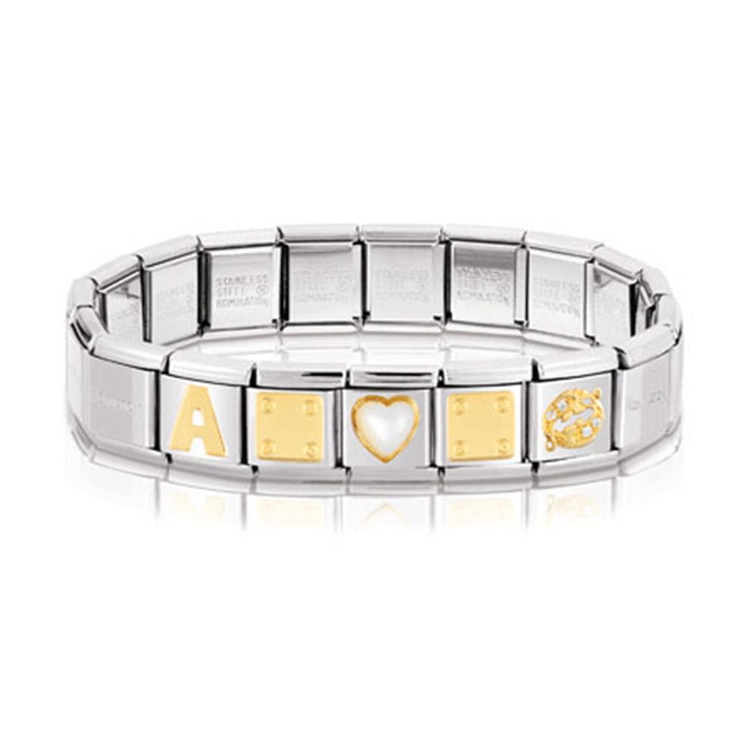 Nomination Armband gold-stahl