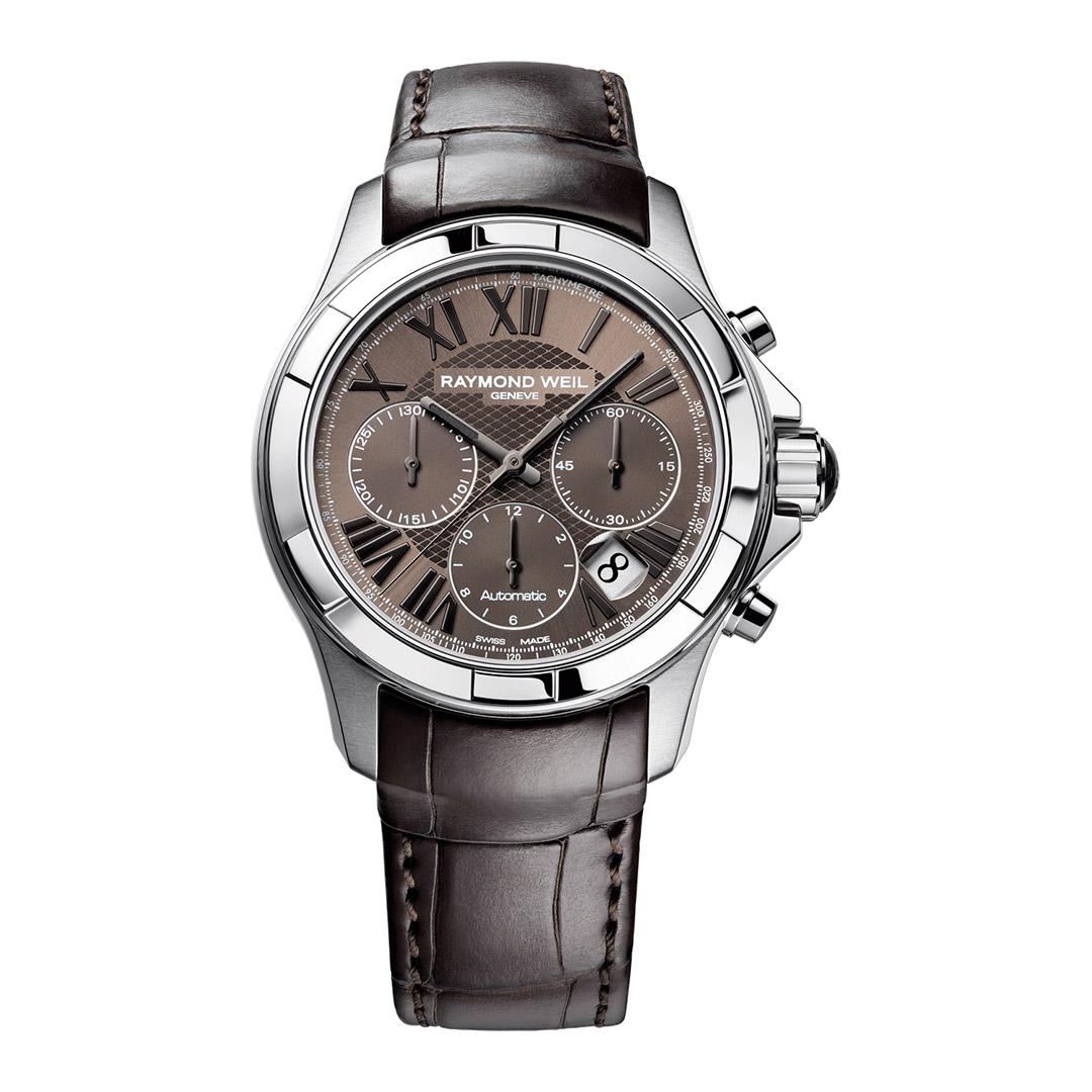 Raymond Weil Herren-Uhr Leder braun