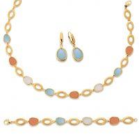 Vivenity - Kette, Ohrringe, Armband Gold Tropfen