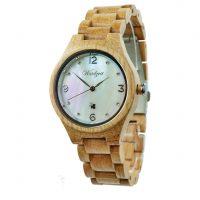 Waidzeit-Damen-Uhr-Holz-Perlmutt