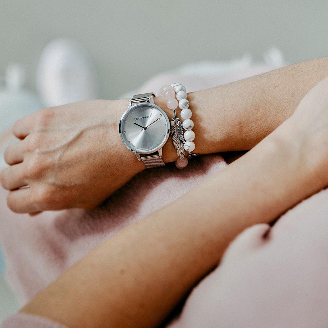 Blumenkind Damen Uhr Silber