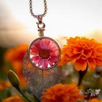 Blumenkind Kette pink