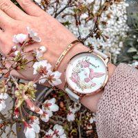 Blumenkind Damen Uhr Kolibri