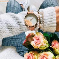 Blumenkind Damen Uhr Blume hell